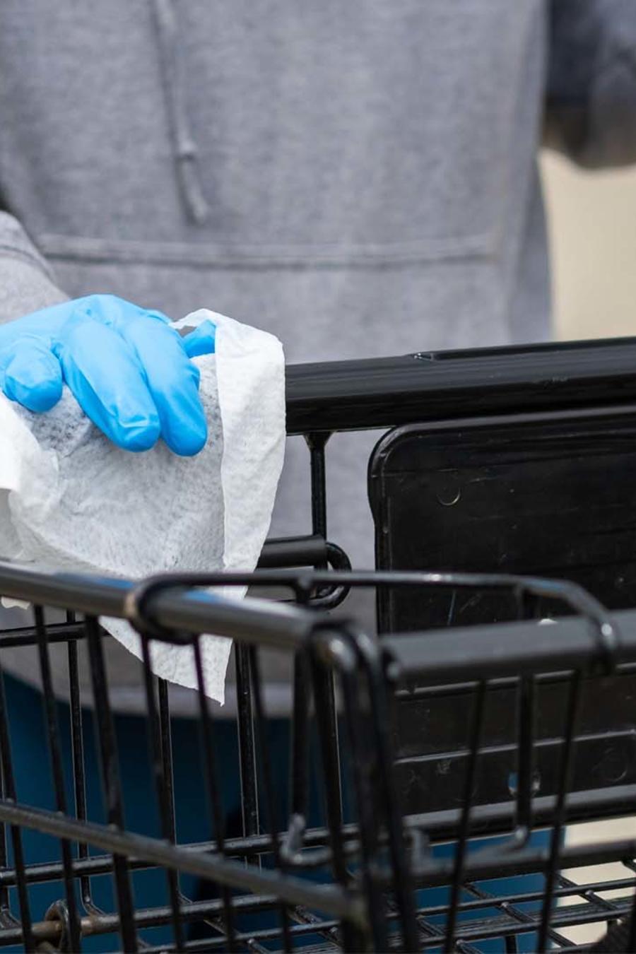 Sugerencias para evitar bacterias de carritos de compras