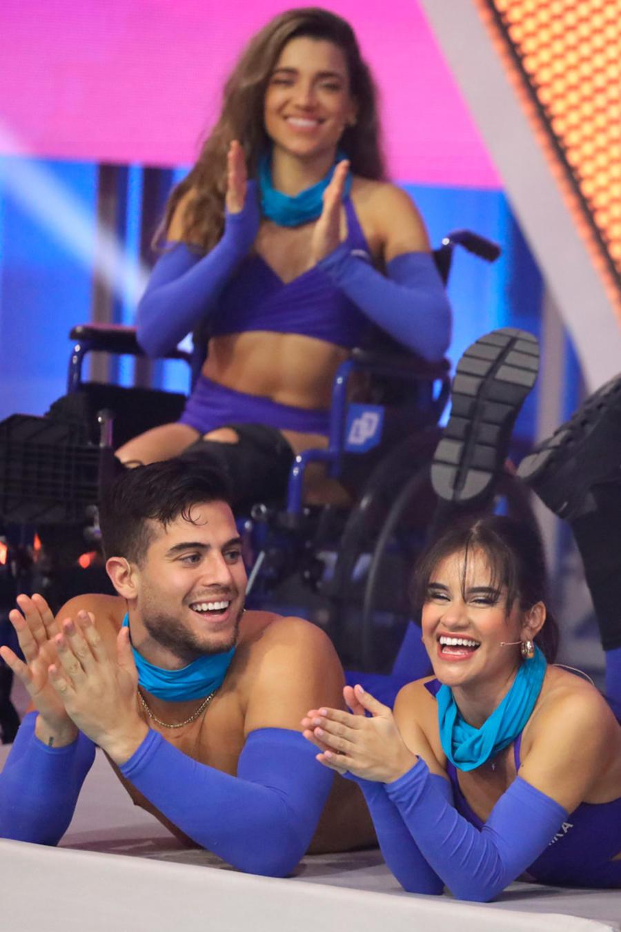 André Luis, Érika, Andrea y Andrés