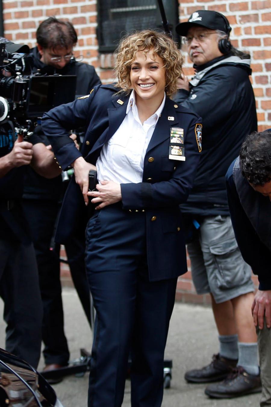 Jennifer Lopez en el set de grabación