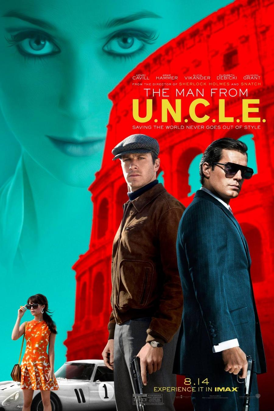 """Póster de la película """"The Man from U.N.C.L.E.""""."""