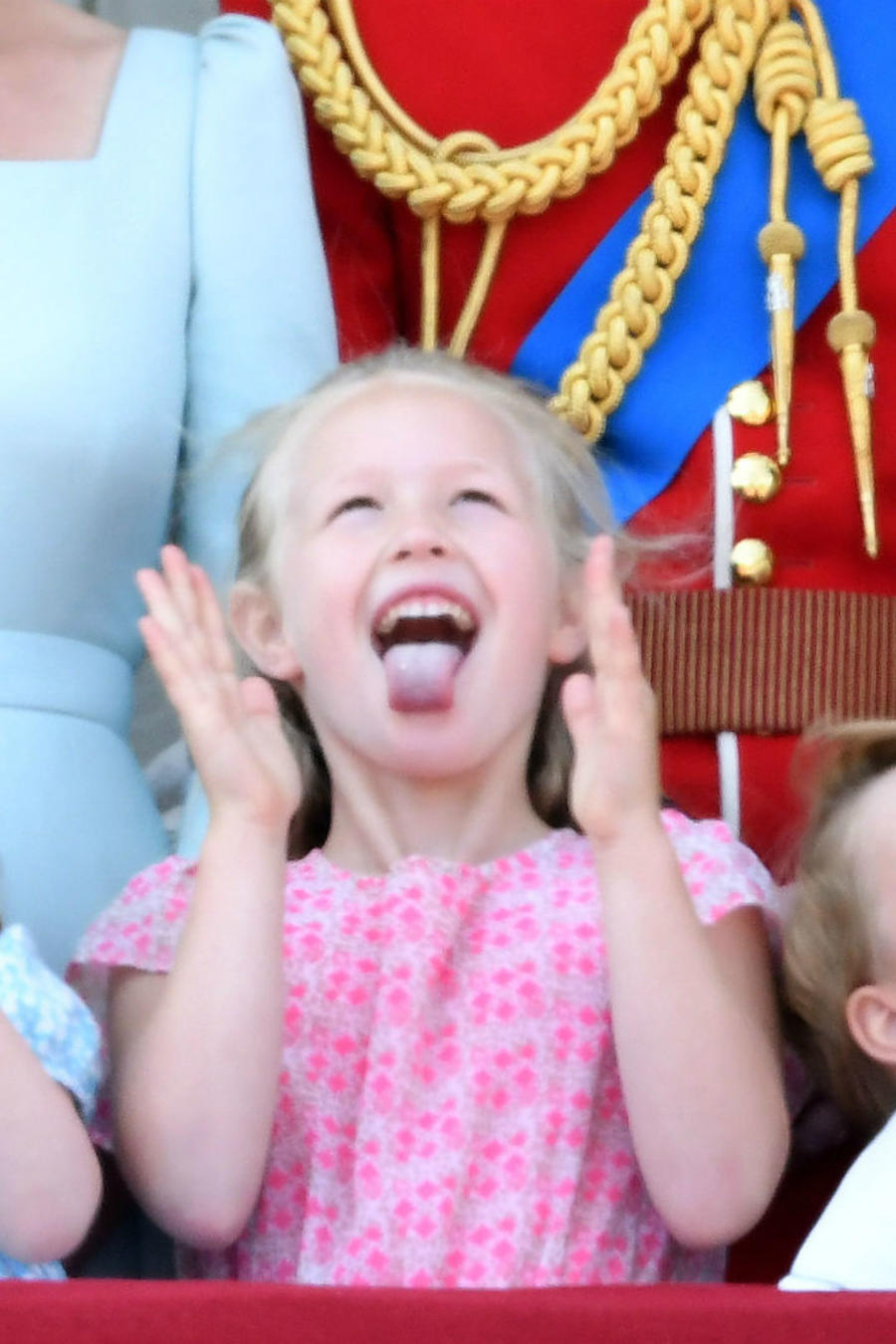 Princesa Charlotte, Savannah Phillips y príncipe George