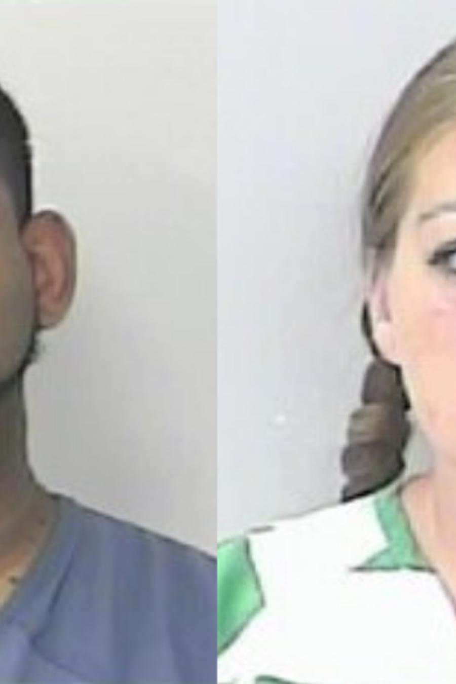 Los sospechosos Óscar Torres, de 40 años; y su esposa Brittany Kirschenhofer, de 32 años