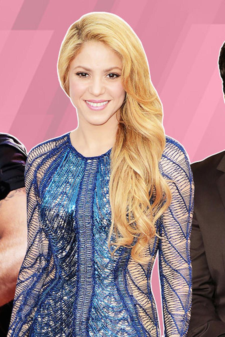Arte para encuesta de San Valentin con Ricky Martin, Shakira y Luis Fonsi