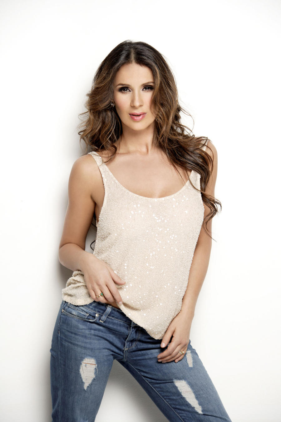 catherine siachoque, foto, jeans, look natural