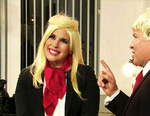 Ni la familia Trump se salvó, una parodia en la interpretan a Donald y su hija, Ivanka Trump.