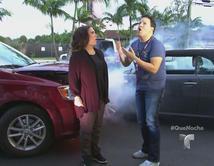 Un ejemplo de lo que pasa cuando Angélica Vale y Raúl González hablan por teléfono, pero no escuchan bien que el invitado es David Chocarro.