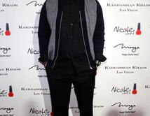 Robert Kardashian Jr. arrives at the grand opening of the Kardashian Khaos store at the Mirage Hotel & Casino