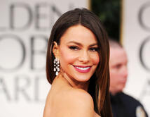 Sofía Vergara arrives at the 69th Annual Golden Globe Awards