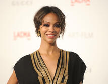 Zoe Saldana attends LACMA's Art And Film Gala Honoring Clint Eastwood
