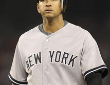Alex Rodriguez of the New York Yankees walks back to the dugout during Game Four of the American League Divison Serie