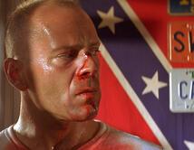 En el papel de Butch, Willis encarnó a un boxeador poderoso y vulnerable al mismo tiempo.