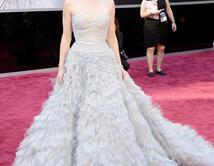 Amy Adams en la alfombra roja de los Oscar
