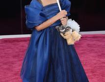 Quvenzhane Wallis en la alfombra roja de los Oscar