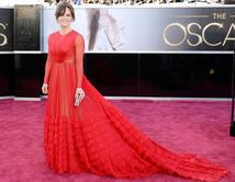 Sally Field en la alfombra roja de los Oscar