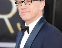 Christoph Waltzen la alfombra roja de los Oscar