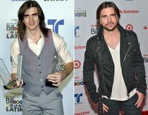 De 2004 (izq.) a 2012 (der.), el súper star colombiano dejó atrás su expresión inocente y juvenil.