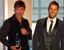 De 2002 (izq.) a 2010 (der.) Ricky mantuvo su atractivo pero giró a un look más sofisticado.