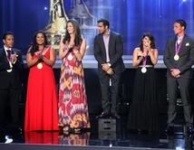 Ryan Lochte, Brenda Villa, Jessica Steffens, Danell Levya, Marlen Esparza, and Leonel Manzano