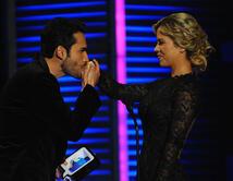 El beso de Fabián Ríos a Ximena Duque
