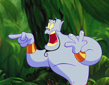 "De la película ""Aladdin""."