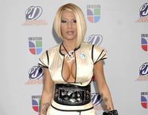 La diva del reggaetón luce uñas muy largas con diseños y ropa muy sensual fuera de lo común.