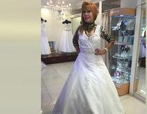 Haz CLICK en la foto para ver la imagen ampliada. (Vestido de El Palacio de las Novias en Lima, Perú)