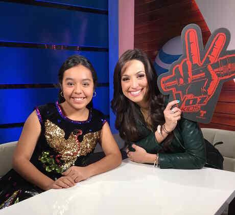 Estefani Lopez en el cuarto ATT de La Voz kids