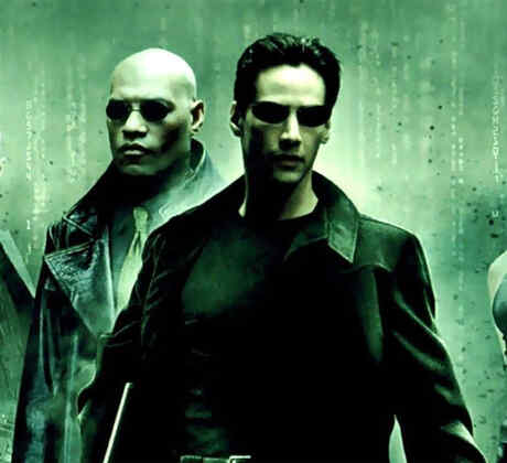 "Keanu Reeves en la película ""The Matrix""."