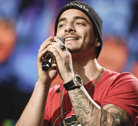 Maluma during the Celia Cruz Tribute rehearsals at the Latin American Music Awards 2015