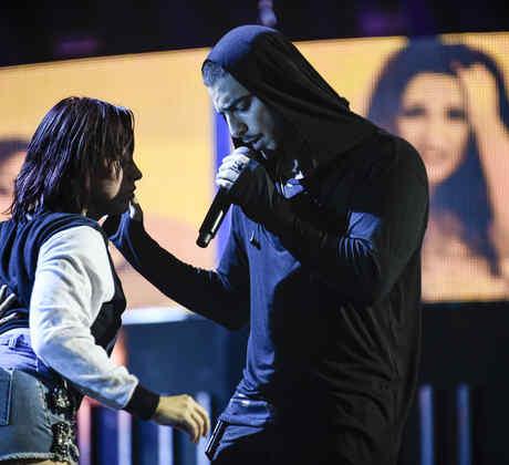 Maluma en los ensayos de los Latin American Music Awards 2015