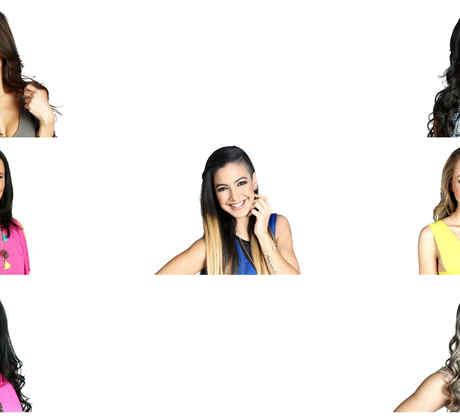 Collage de habitantes femeninas de Gran Hermano
