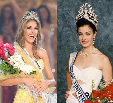 Dayana Mendoza, Dayanara Torres y Denise Quiñones, ganadoras de Miss Universo