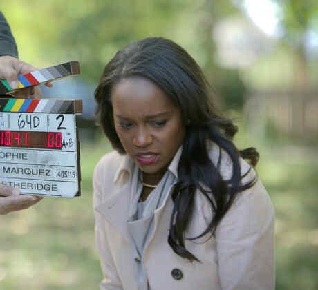 "Aja Naomi King detrás de cámaras en la película ""Reversion""."