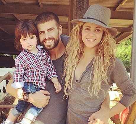 MIlan Piqué, Gerard Piqué y Shakira