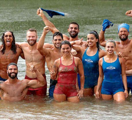 FAmosos y Contendientes unidos en el río Chavón