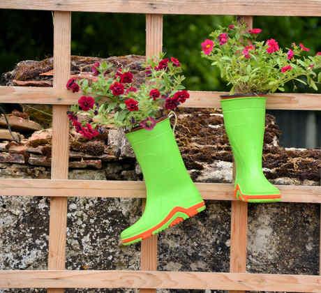 Floreros de botas
