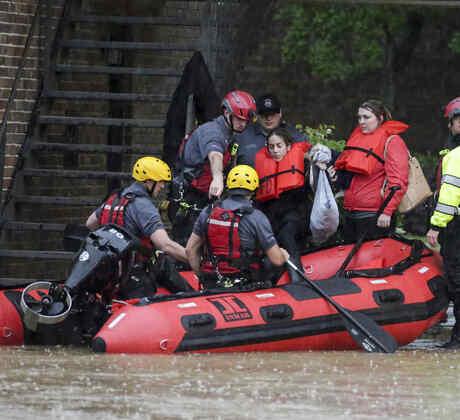 Inundaciones en Homewood, Alabama.