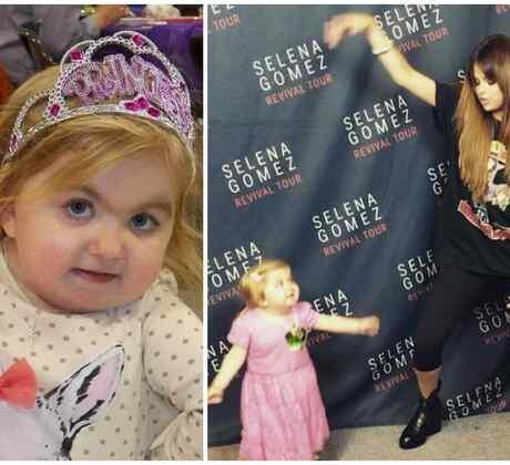 Audrey Nethery cumplió su sueño de cantar y bailar junto a la cantante Selena Gomez