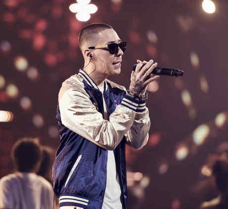 Baby Rasta en los ensayos de los Latin American Music Awards, 2016