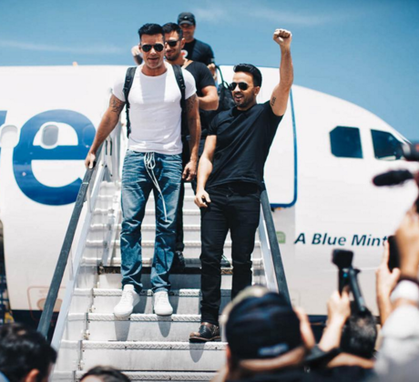 Luis Fonsi, Ricky Martin, Nicky Jam y Chayanne aterrizan en Puerto Rico.