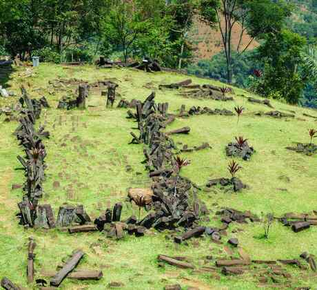 Gunung Padang en Indonesia