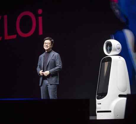 Robot blanco de LG