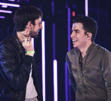 Esteman y Georgel en los ensayos de los Latin American Music Awards 2019