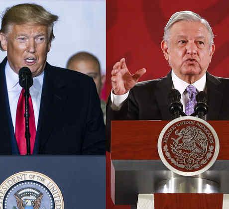 Donald Trump y Andrés Manuel López Obrador
