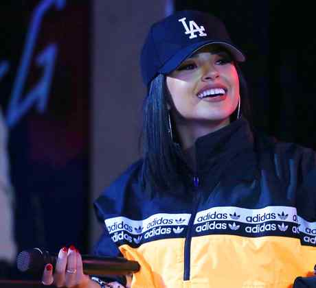 Becky G performs on stage during the 'Mala Santa' Tour 2019