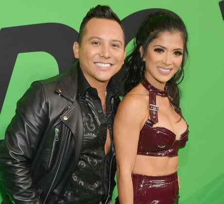 Edwin Luna y Kimberly Flores en la alfombra roja de los Spotify Awards 2020