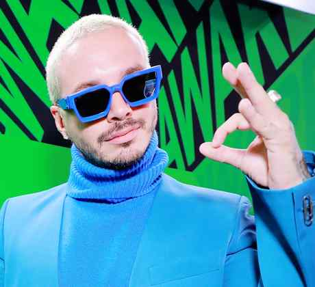 J Balvin at the Spotify awards