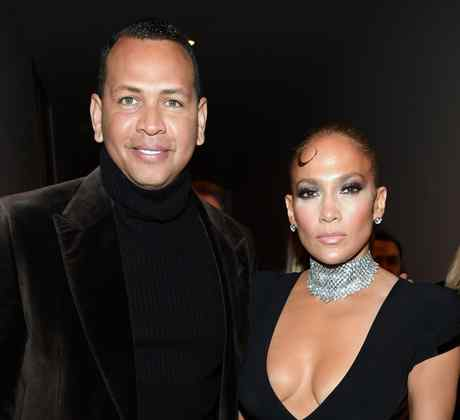 Jennifer Lopez and Alex Rodriguez at event