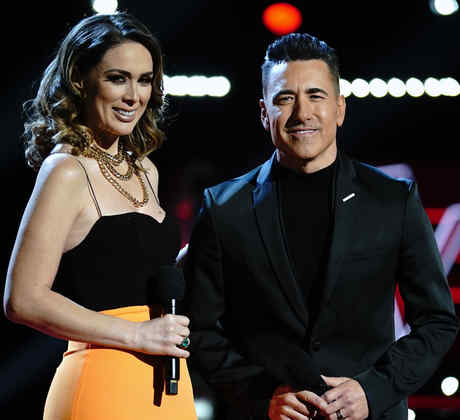 Jacquelin Bracamontes y Jorge Bernal en La Voz US 2