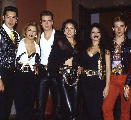 El grupo Garibaldi posando en México, 1991
